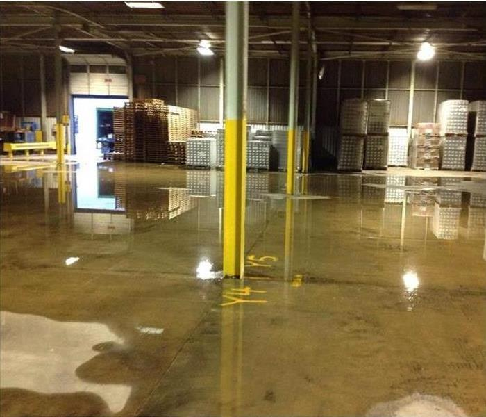 Water flood in warehouse