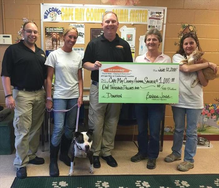 Community SERVPRO of Cape May County Donates to local Animal Shelter